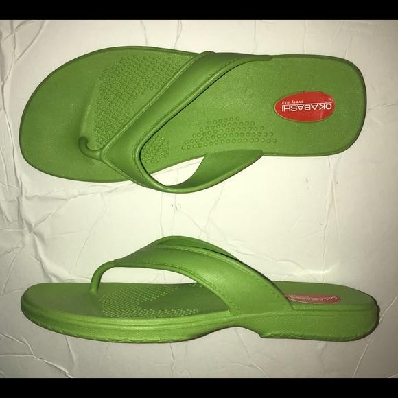 2579be891bbc62 Okabashi Maui Thong Rubber Flip Flops 7.5 8 8.5 9